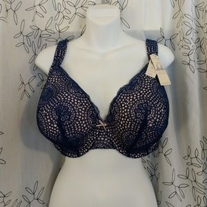 Cacique Lane Bryant Full Coverage Bra blue 40F